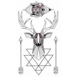 Graphic deer wolf & arrows