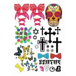 Skull, Cross & Butterfly