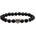 Bracelet pierre de lave & hibou