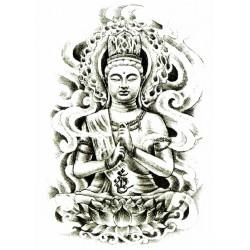 Bouddha fusain