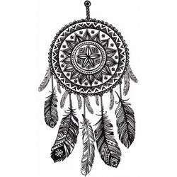 Mandala Attrape-Rêve Plumes