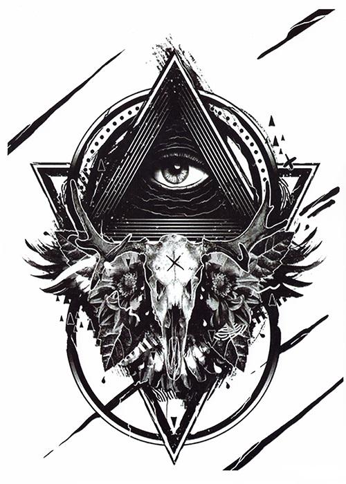 tattoo temporaire oeil