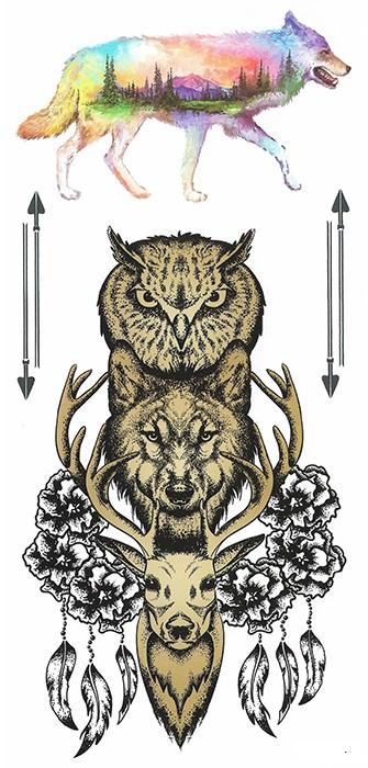 tattoo éphémère animaux de la forêt