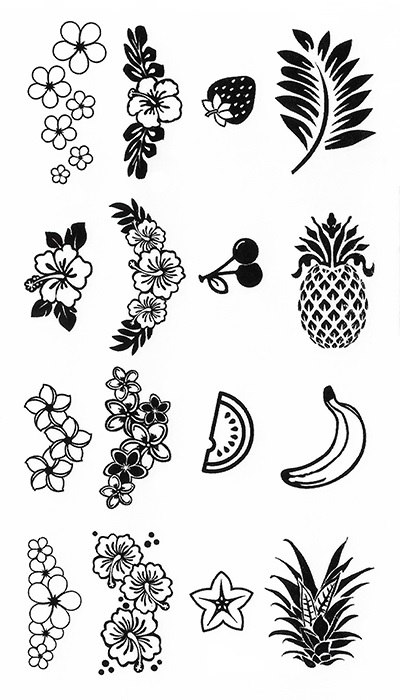 Tatouage temporaire fruits