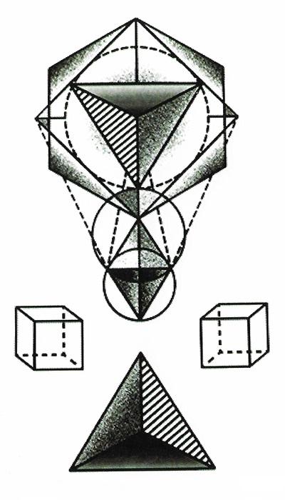 tattoo éphémère géométrique
