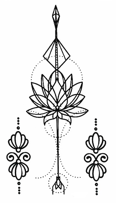 Tattoo temporaire lotus