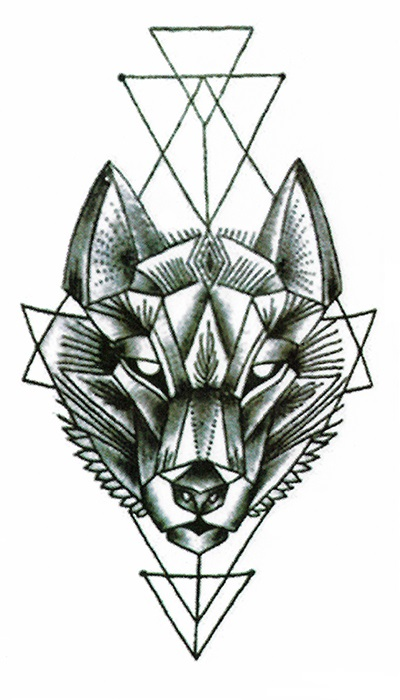 tatouage ph m re loup tatouage temporaire loup be inked. Black Bedroom Furniture Sets. Home Design Ideas