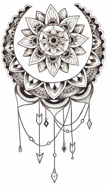 tatouage éphémère mandala attrape reve