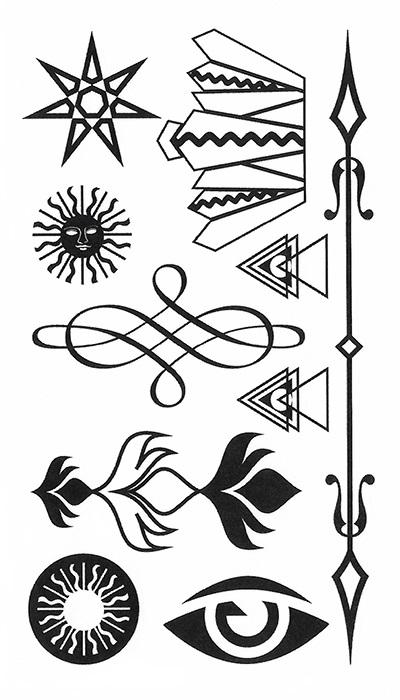 tattoo temporaire thème solaire