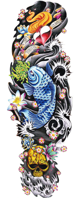 tatouage temporaire manchette océan