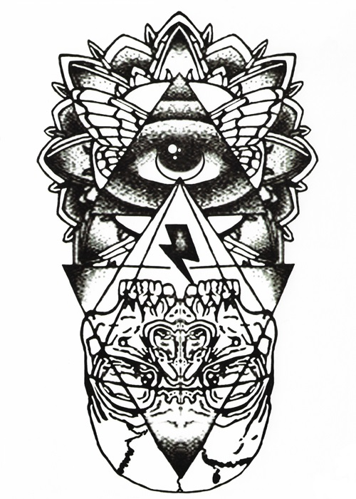 tatouage temporaire totem oeil