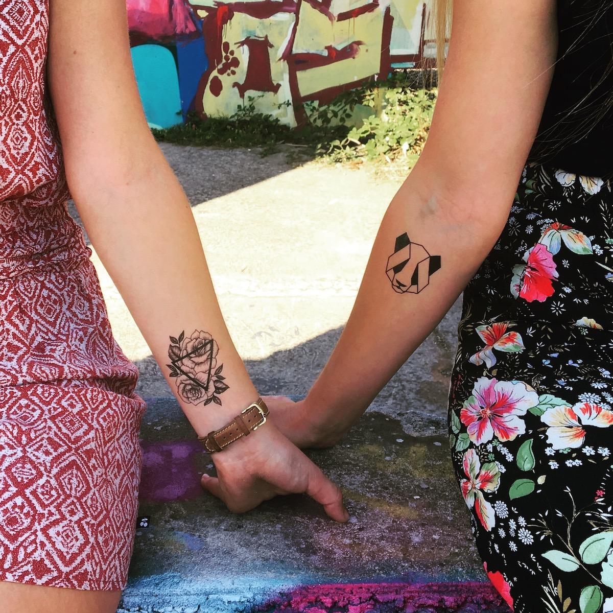 tatouage temporaire Roses