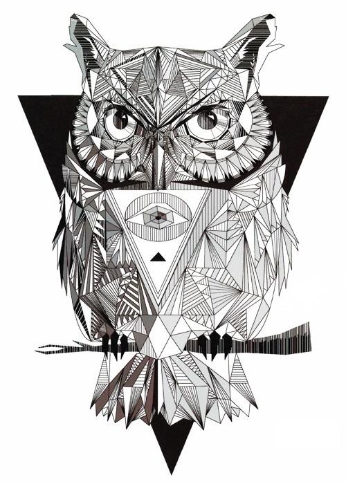 chouette tatouage temporaire