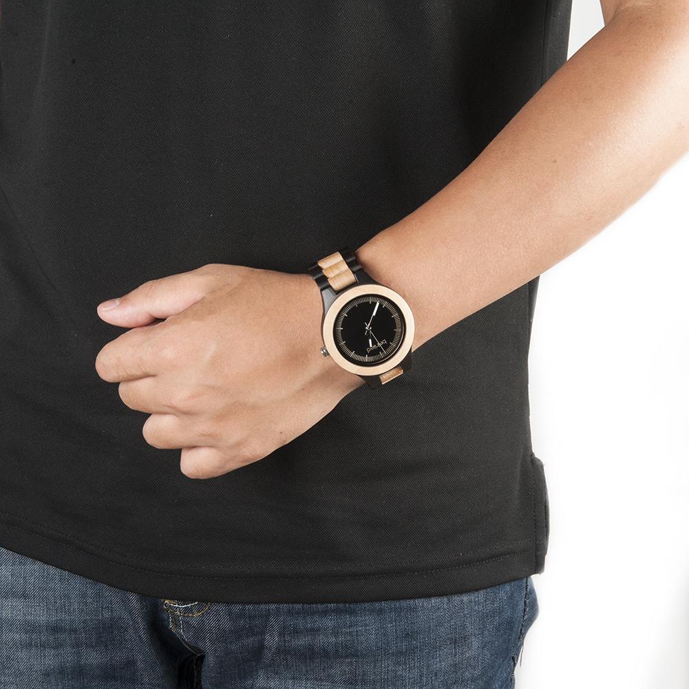 montre mixte noir et creme