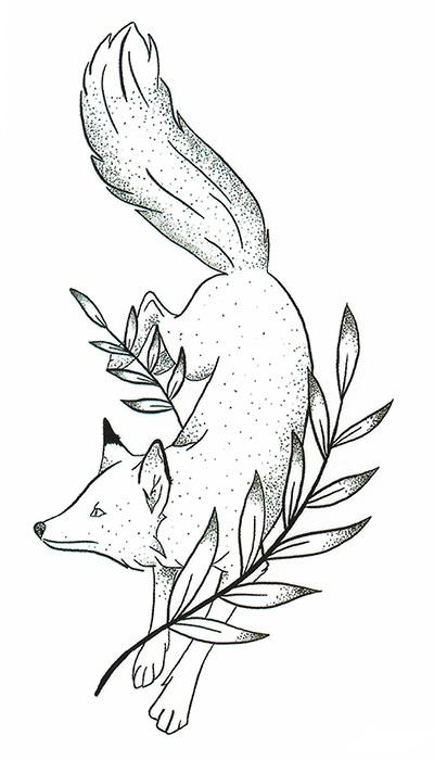 Tatouage éphémère renard