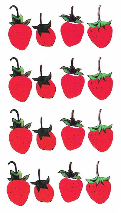 tatouage éphémère fraise