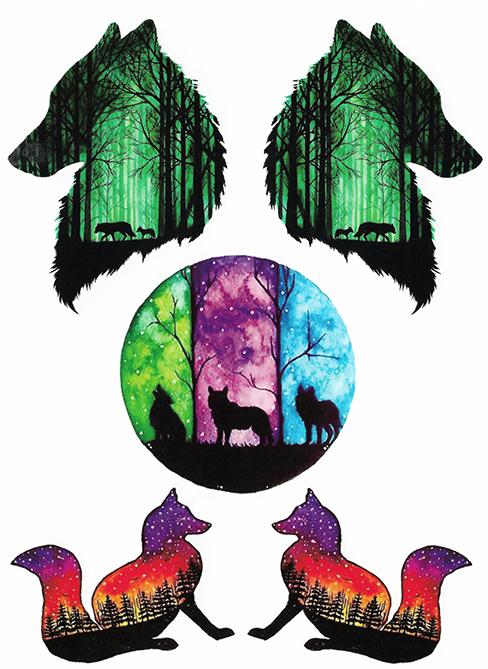 tatouages loups