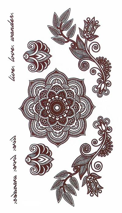 tattoo temporaire mandala