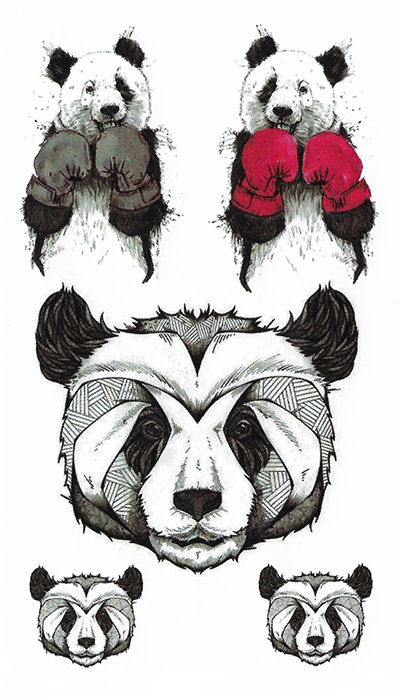 Tattoo temporaire panda