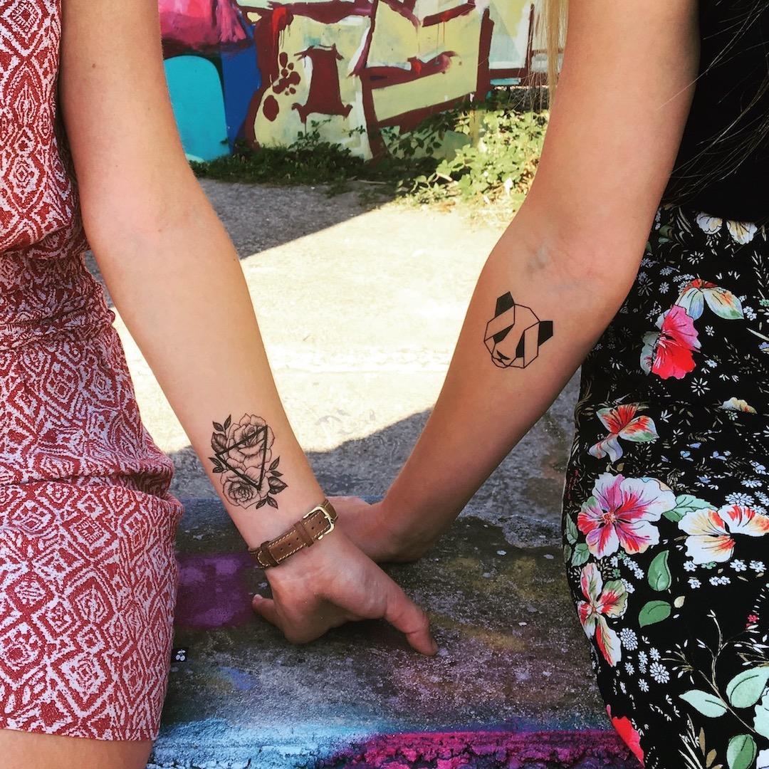 tatouage temporaire panda