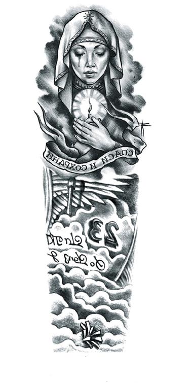 tatouage temporaire vierge en pleurs