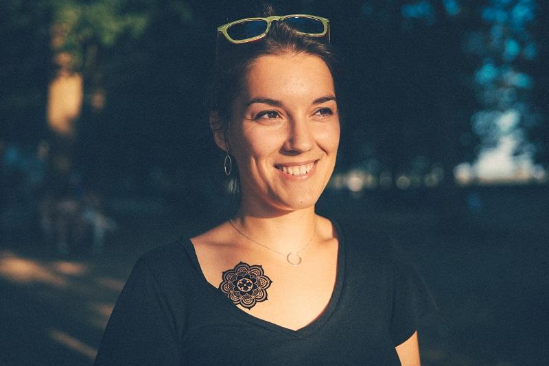 tatouage ephemere mandala